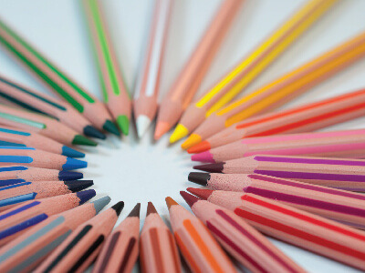 Stockton SCITT News Header - Colouring Pencils in a circle